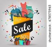 super sale poster  banner. big... | Shutterstock .eps vector #678575965
