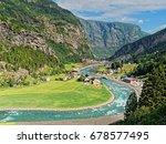 valley landscape norway from...   Shutterstock . vector #678577495