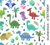 seamless vector pattern with... | Shutterstock .eps vector #678578809