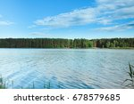 beautiful summer landscape.... | Shutterstock . vector #678579685