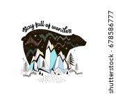 arctic nature illustration | Shutterstock .eps vector #678586777