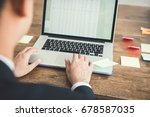 businessman concentrating on... | Shutterstock . vector #678587035