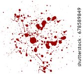 abstract splatter red color... | Shutterstock .eps vector #678589849