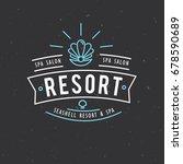 spa salon logo design. vector... | Shutterstock .eps vector #678590689