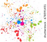 abstract splatter color... | Shutterstock .eps vector #678591451