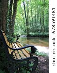 Small photo of Romantic bench in Lauter in Alsace, France