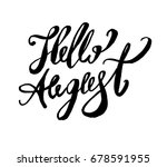 hand drawn typography lettering ... | Shutterstock .eps vector #678591955