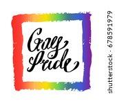 gay pride rainbow colorful...   Shutterstock .eps vector #678591979
