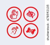 sign language icon  blind icon...