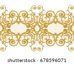 seamless pattern. golden... | Shutterstock . vector #678596071