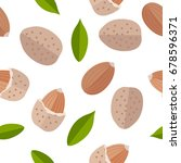 almond seamless pattern  in... | Shutterstock . vector #678596371