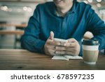 adult asian freelance... | Shutterstock . vector #678597235