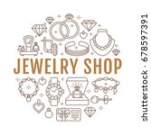 jewelry shop  diamond... | Shutterstock .eps vector #678597391