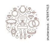 jewelry shop  diamond... | Shutterstock .eps vector #678597415