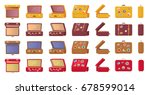 old fashioned vintage suitcases ... | Shutterstock .eps vector #678599014