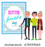 happy friendship day colorful...   Shutterstock .eps vector #678599065