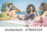 happy friends having fun and...   Shutterstock . vector #678605134