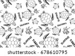 turtle illustration vector...   Shutterstock .eps vector #678610795