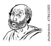 aristotle vector illustration ... | Shutterstock .eps vector #678611005