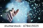 businessman on blurred... | Shutterstock . vector #678615025