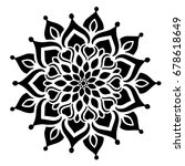 mandalas for coloring book.... | Shutterstock .eps vector #678618649