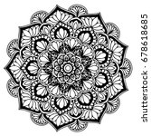 mandalas for coloring book.... | Shutterstock .eps vector #678618685