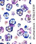 seamless gentle romantic floral ... | Shutterstock . vector #678619339