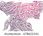 maori tattoo ornament in ethnic ... | Shutterstock .eps vector #678622141