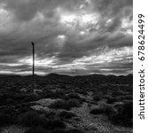 desert telephone pole