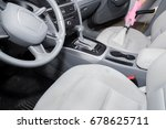 dirty car interior light gray... | Shutterstock . vector #678625711