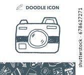 doodle camera | Shutterstock .eps vector #678627271