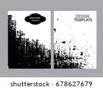 grunge black and white distress ... | Shutterstock .eps vector #678627679