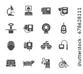 medical equipment icons | Shutterstock .eps vector #678628111