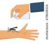 mosquito spray in hand human.... | Shutterstock .eps vector #678628324