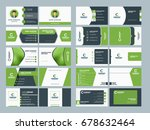 double sided business card... | Shutterstock .eps vector #678632464