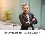 asian senior business man... | Shutterstock . vector #678632644