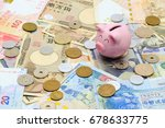 piggy bank with banknote and... | Shutterstock . vector #678633775
