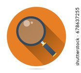 magnifying glass icon vector... | Shutterstock .eps vector #678637255