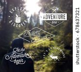 traveling   vintage typographic ... | Shutterstock .eps vector #678637321