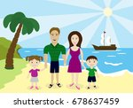 parents with children of the...   Shutterstock .eps vector #678637459