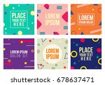 memphis style cards with... | Shutterstock .eps vector #678637471