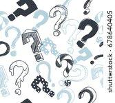 doodle interrogation marks... | Shutterstock .eps vector #678640405