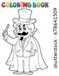 coloring book magician theme 1  ... | Shutterstock .eps vector #678641509