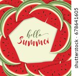 hello summer card with... | Shutterstock .eps vector #678641605