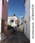 Small photo of On the streets of Aegina Island in Greece