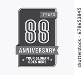 88 years anniversary design... | Shutterstock .eps vector #678653845