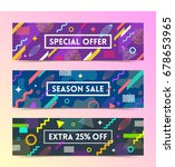 vector set of abstract... | Shutterstock .eps vector #678653965