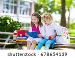 children go back to school.... | Shutterstock . vector #678654139