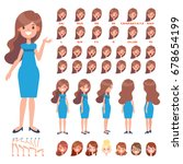 front  side  back view animated ... | Shutterstock .eps vector #678654199