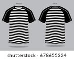 stripe t shirt design  black  ... | Shutterstock .eps vector #678655324